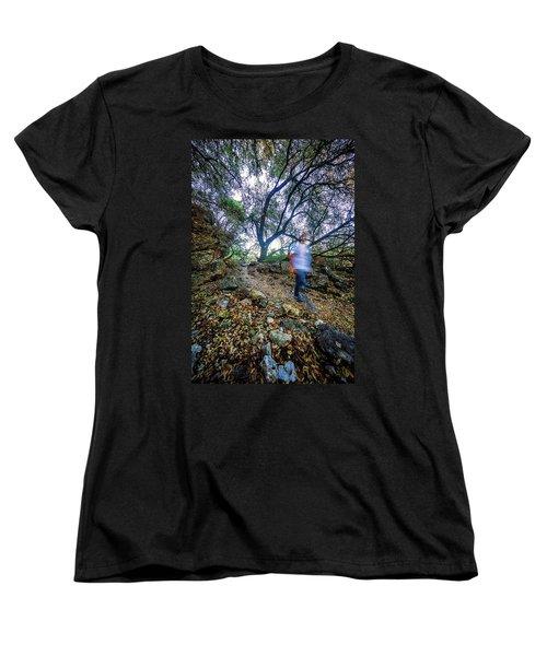 Long Exposure Peddernales Falls State Park Hike Women's T-Shirt (Standard Cut) by Micah Goff