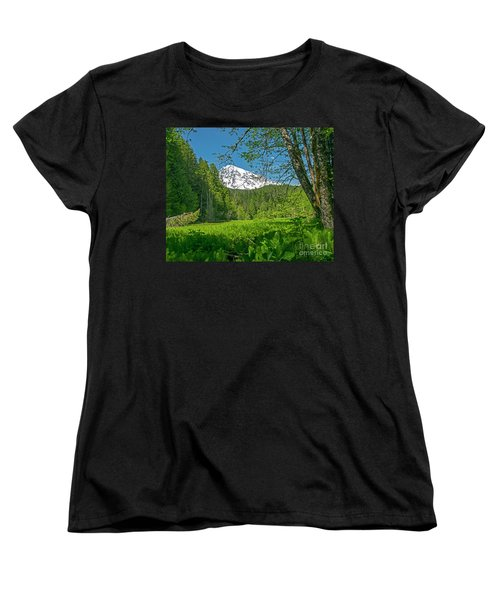 Longmire Meadows 0761 Women's T-Shirt (Standard Cut) by Chuck Flewelling