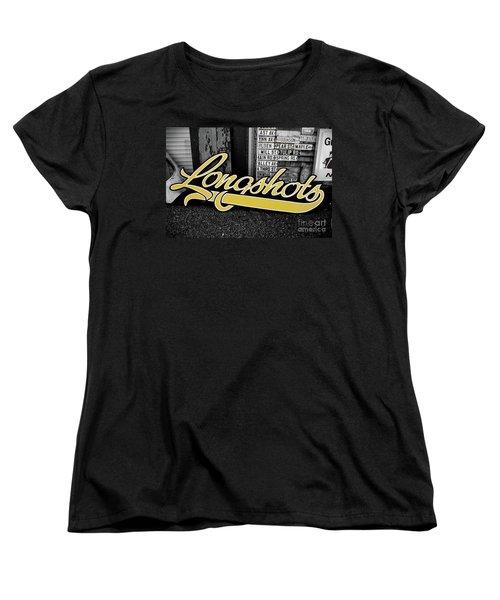 Women's T-Shirt (Standard Cut) featuring the photograph Longshots - Sign by Colleen Kammerer