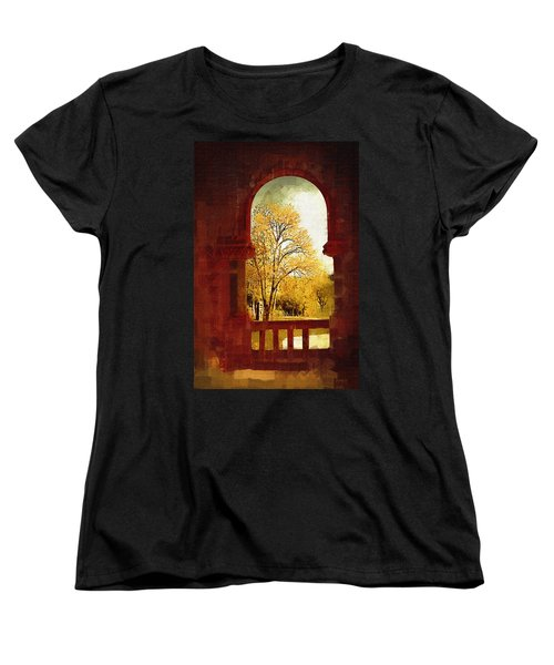 Women's T-Shirt (Standard Cut) featuring the digital art Lookin Out by Holly Ethan