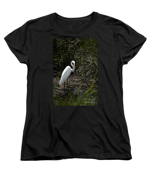 Women's T-Shirt (Standard Cut) featuring the photograph Looking For Lunch by Tamyra Ayles