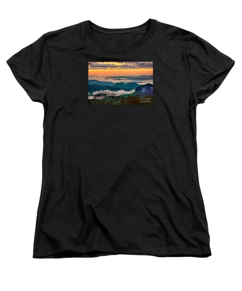 Looking Glass In The Blue Ridge At Sunrise Women's T-Shirt (Standard Cut)