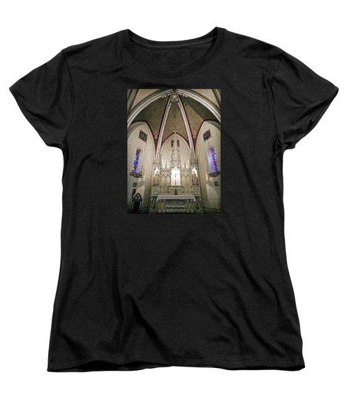Women's T-Shirt (Standard Cut) featuring the photograph Loretto Chapel Santa Fe by Kurt Van Wagner