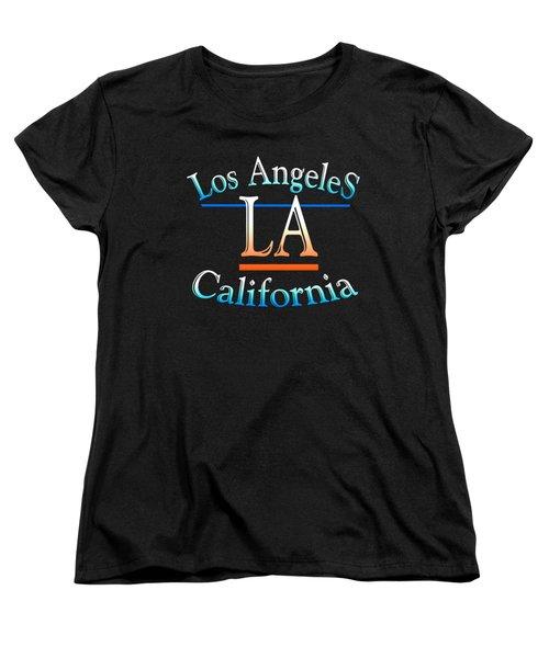 Los Angeles California Tshirt Design Women's T-Shirt (Standard Cut) by Art America Gallery Peter Potter