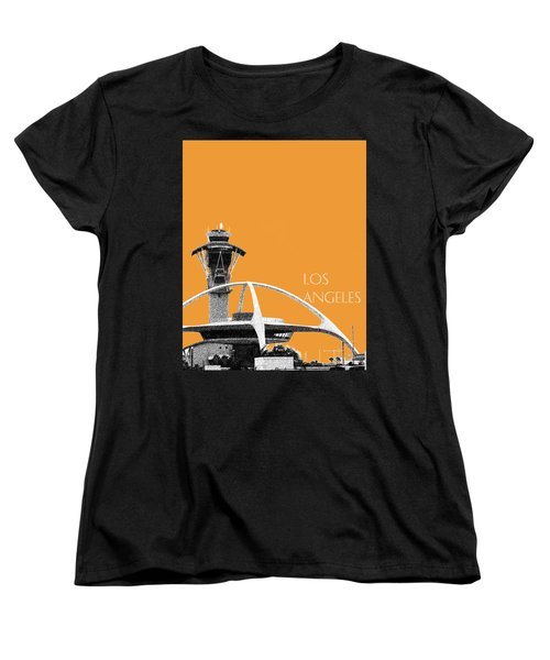 Los Angeles Skyline Lax Spider - Orange Women's T-Shirt (Standard Cut) by DB Artist
