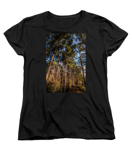 Lost In The Woods Women's T-Shirt (Standard Cut) by Linda Unger