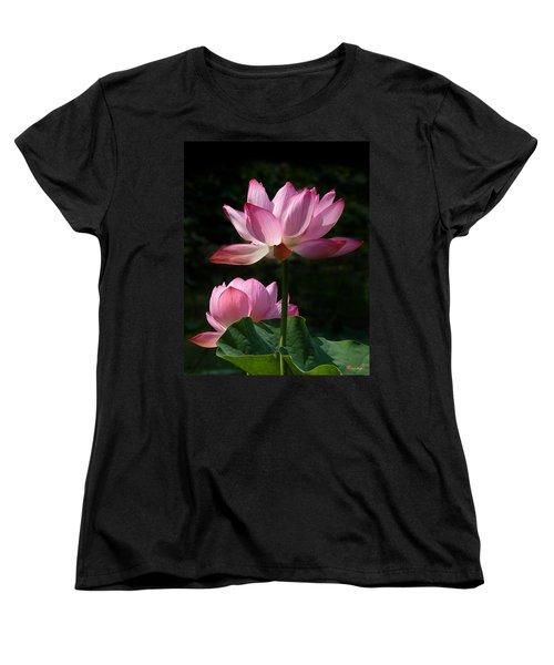 Lotus Beauties--upstaged Dl048 Women's T-Shirt (Standard Cut) by Gerry Gantt