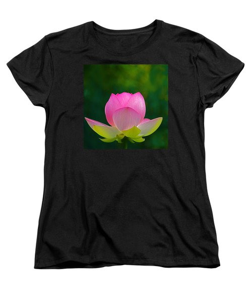 Women's T-Shirt (Standard Cut) featuring the photograph Lotus Blossom 842010 by Byron Varvarigos