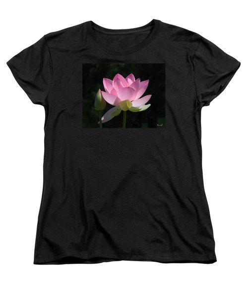 Lotus Bud--snuggle Bud Dl005 Women's T-Shirt (Standard Cut) by Gerry Gantt