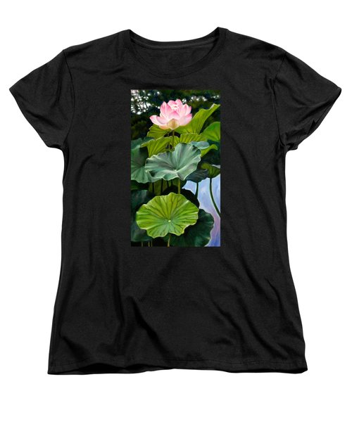 Lotus Rising Women's T-Shirt (Standard Cut) by John Lautermilch
