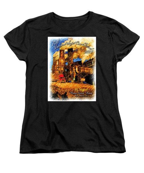 Louisiana Sugar Cane Poster 2012 Women's T-Shirt (Standard Cut) by Ronald Olivier
