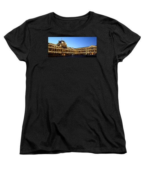Women's T-Shirt (Standard Cut) featuring the photograph Louvre At Night 1 by Andrew Fare