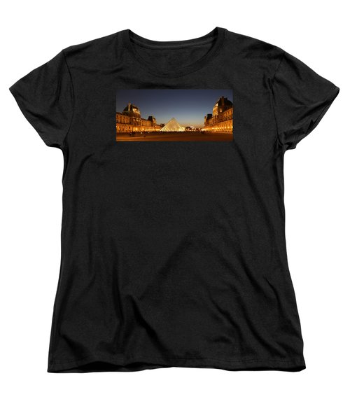 Women's T-Shirt (Standard Cut) featuring the photograph Louvre At Night 2 by Andrew Fare