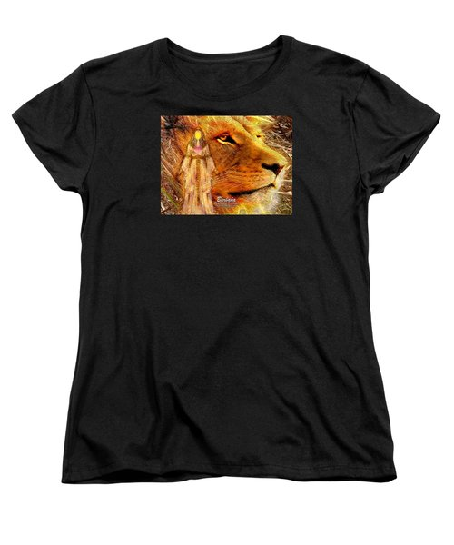 Women's T-Shirt (Standard Cut) featuring the digital art Love 444 Cecil by Barbara Tristan