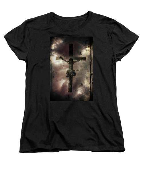 Women's T-Shirt (Standard Cut) featuring the painting Love by Gray  Artus
