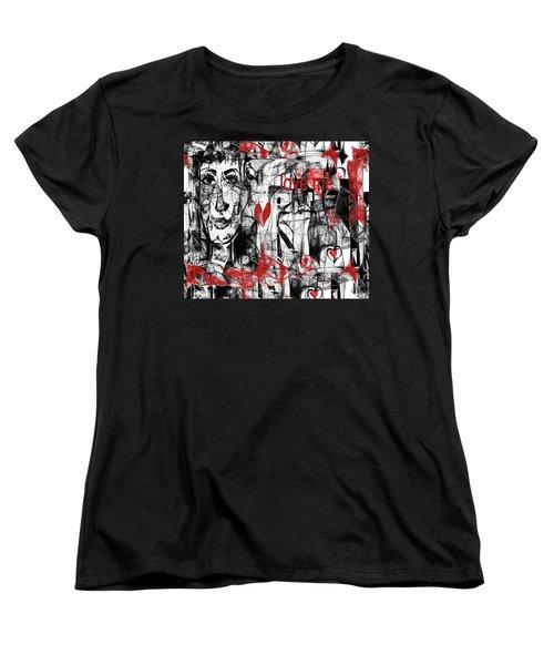 Women's T-Shirt (Standard Cut) featuring the digital art Love Me  by Sladjana Lazarevic