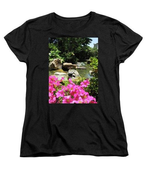 Women's T-Shirt (Standard Cut) featuring the photograph Love On The Rocks- Los Angeles- Pandas by Ausra Huntington nee Paulauskaite