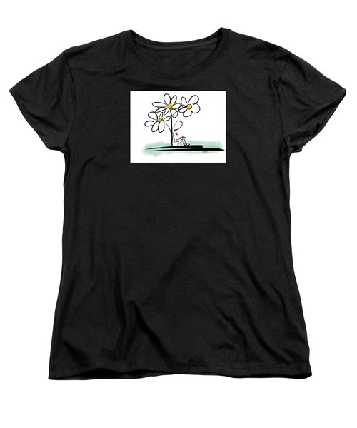Women's T-Shirt (Standard Cut) featuring the photograph Love You by Haleh Mahbod