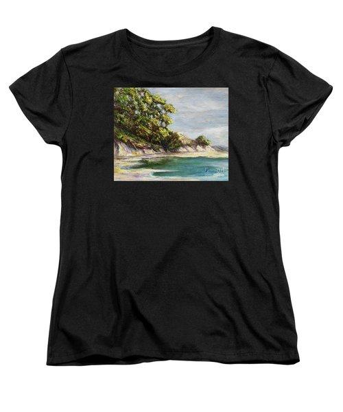 Low Tide Beach Women's T-Shirt (Standard Cut) by Danuta Bennett