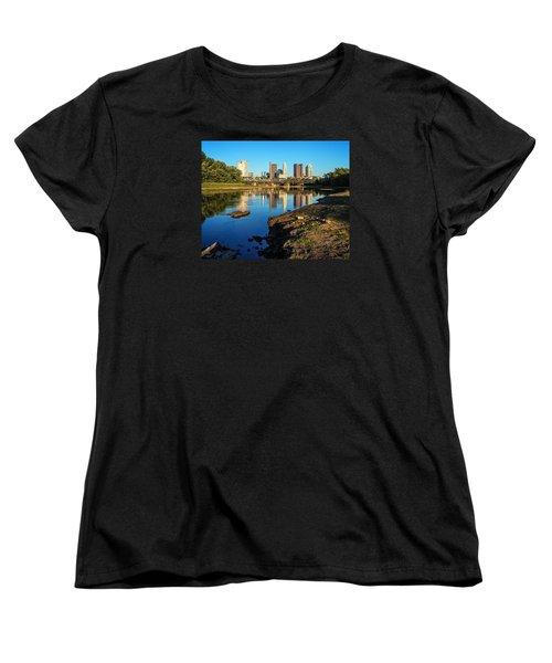 Women's T-Shirt (Standard Cut) featuring the photograph Low Water  by Alan Raasch