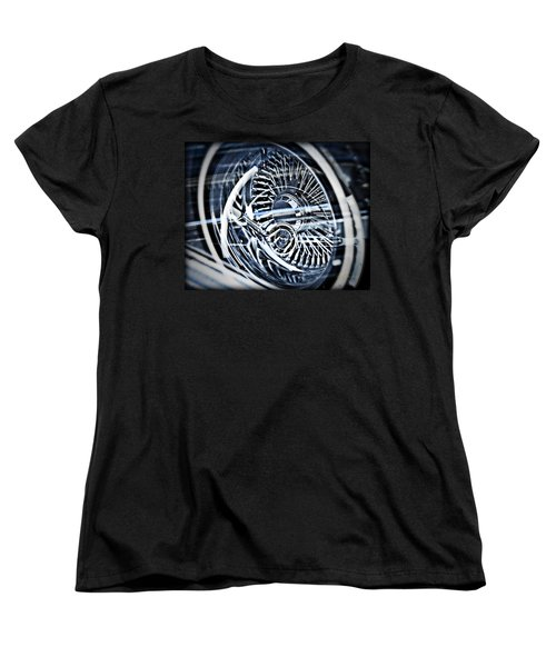Lowrider Wheel Illusions 1 Women's T-Shirt (Standard Cut) by Walter Herrit
