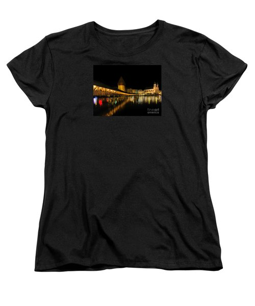 Lucerne Night Beauty II - Painting Women's T-Shirt (Standard Cut) by Al Bourassa