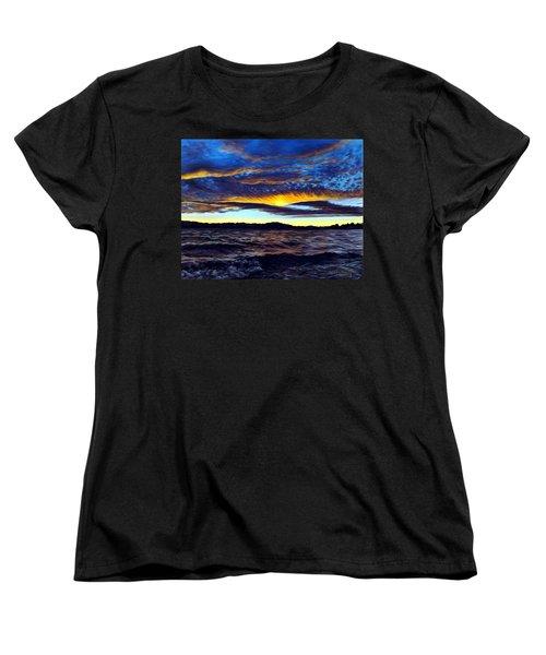 Lucerne Sunset Women's T-Shirt (Standard Cut) by Linda Becker