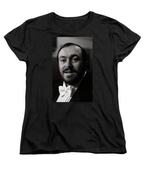 Luciano Pavarotti Women's T-Shirt (Standard Cut) by KG Thienemann