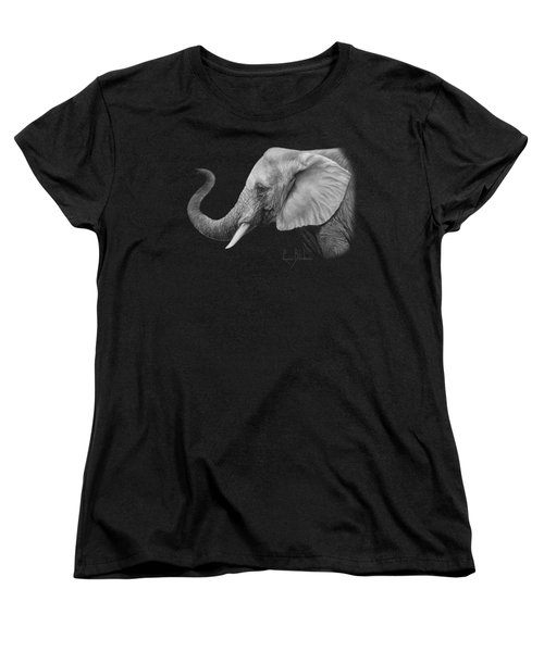Lucky - Black And White Women's T-Shirt (Standard Cut) by Lucie Bilodeau
