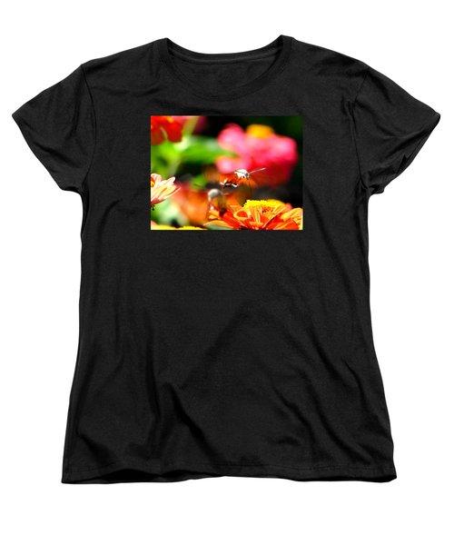 Women's T-Shirt (Standard Cut) featuring the photograph Lucky Shot by Ana Maria Edulescu