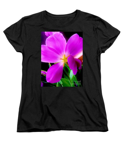 Luminous Tulips Women's T-Shirt (Standard Cut) by Tim Townsend
