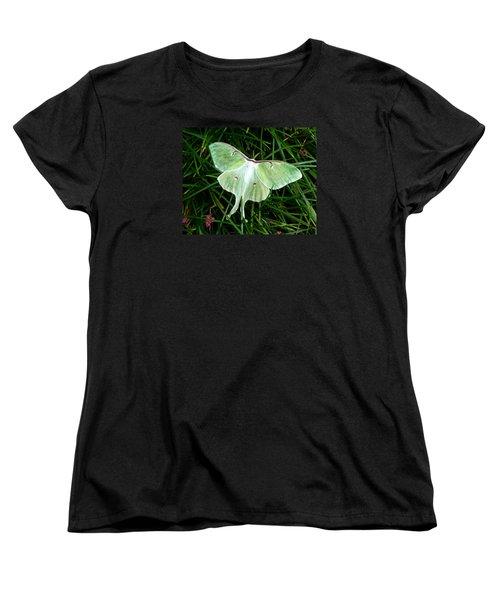 Luna Mission Accomplished Women's T-Shirt (Standard Cut) by Carla Parris