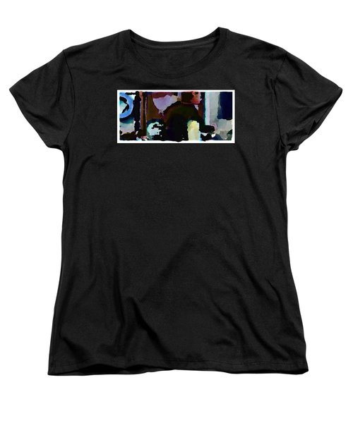Women's T-Shirt (Standard Cut) featuring the painting Lunch Counter by Steve Karol
