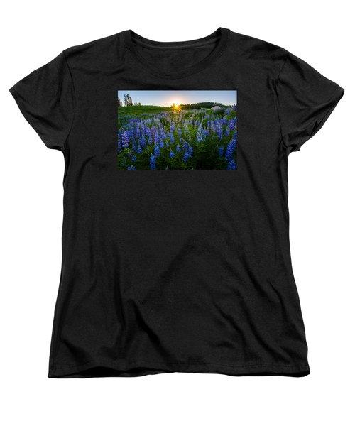 Lupine Meadow Women's T-Shirt (Standard Cut) by Dustin  LeFevre