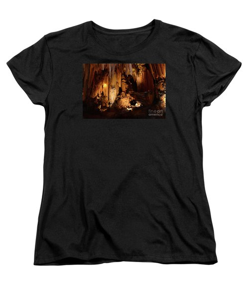 Women's T-Shirt (Standard Cut) featuring the photograph Luray Dark Caverns by Paul Ward