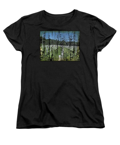 Women's T-Shirt (Standard Cut) featuring the photograph Luxembourg Wwii Memorial Cemetery by Joseph Hendrix