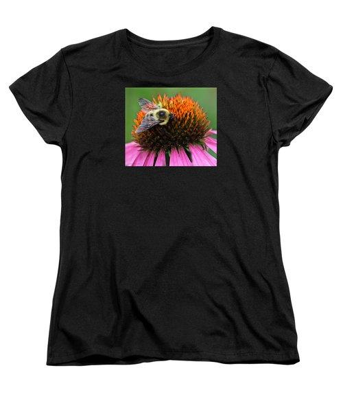 Macro Bee Women's T-Shirt (Standard Cut) by Debra     Vatalaro
