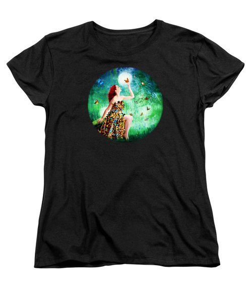 Madam Butterfly Women's T-Shirt (Standard Cut) by Linda Lees