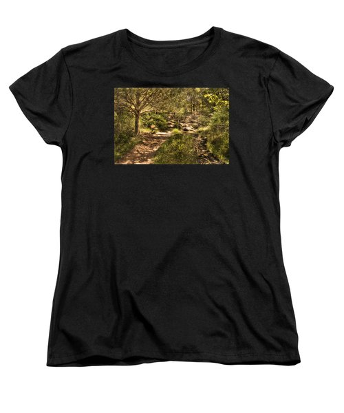 Women's T-Shirt (Standard Cut) featuring the photograph Magic Bench by Tamyra Ayles