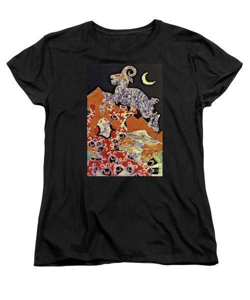 Magic Frog With Goat Women's T-Shirt (Standard Cut)