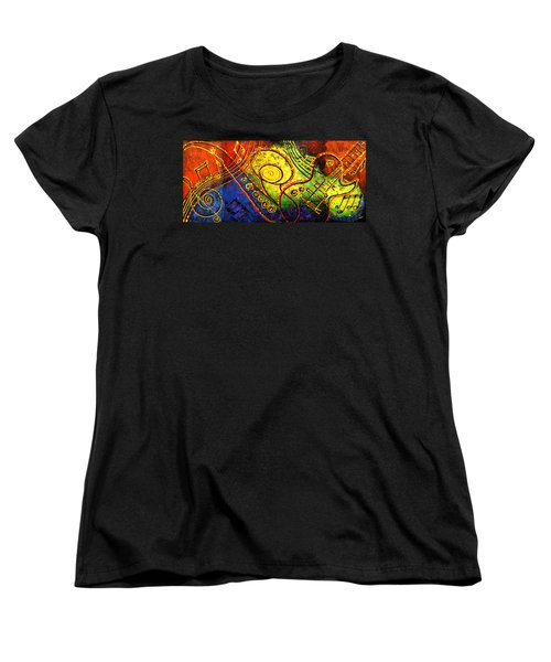 Magic Guitar Women's T-Shirt (Standard Cut) by Leon Zernitsky