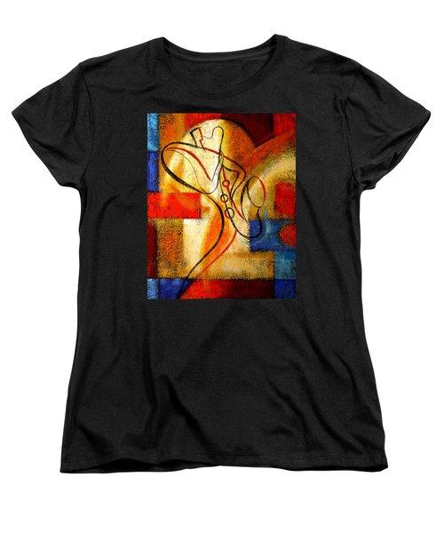 Magic Saxophone Women's T-Shirt (Standard Cut) by Leon Zernitsky
