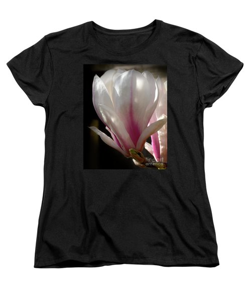 Women's T-Shirt (Standard Cut) featuring the photograph Magnolia Bloom by Stephen Melia