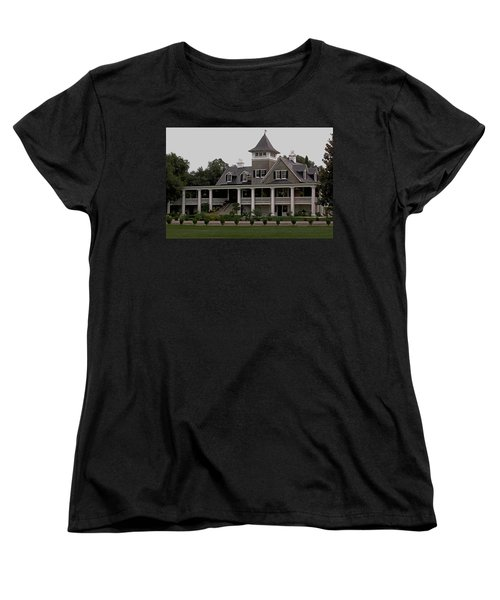 Magnolia Plantation Home Women's T-Shirt (Standard Cut) by DigiArt Diaries by Vicky B Fuller