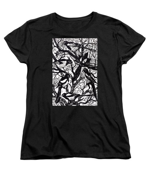 Magpies Women's T-Shirt (Standard Cut) by Nat Morley