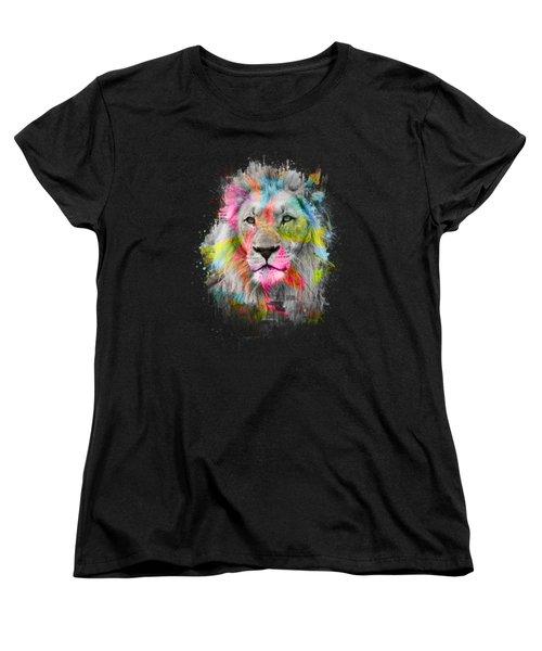 Majestic Male Lion Women's T-Shirt (Standard Cut) by Carsten Reisinger