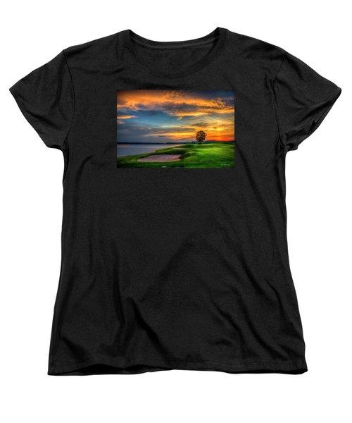 Women's T-Shirt (Standard Cut) featuring the photograph Majestic Number 4 The Landing Reynolds Plantation Art by Reid Callaway
