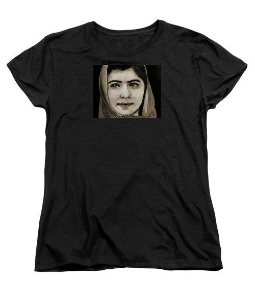 Malala Yousafzai- Teen Hero Women's T-Shirt (Standard Cut) by Michael Cross