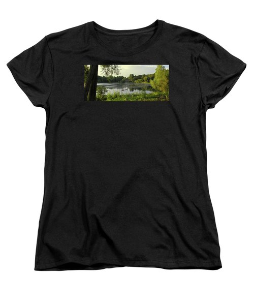 Mallards Lake II Women's T-Shirt (Standard Cut) by Doug Kreuger
