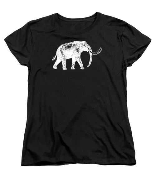 Mammoth White Ink Tee Women's T-Shirt (Standard Cut) by Edward Fielding